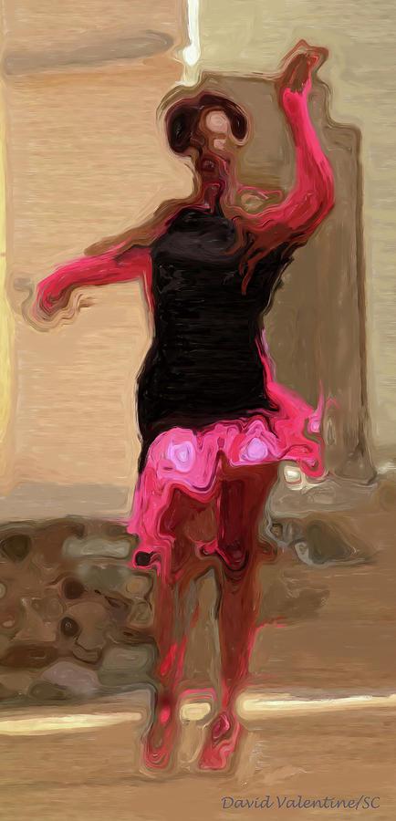 Red Scarf Dancer No. 1 by David Valentine