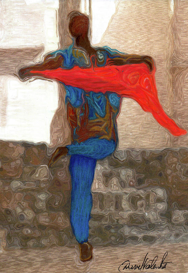 Red Scarf Dancer No. 3 by David Valentine