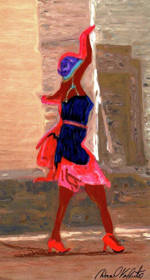 Red Scarf Dancer No. 4 by David Valentine
