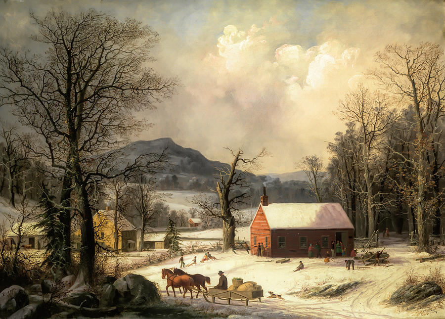 Red School House                                                      by George Henry Durrie