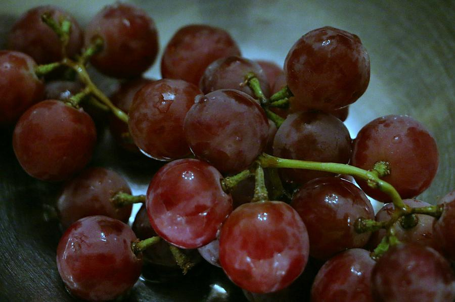 Red Seedless Grapes by The Art Of Marilyn Ridoutt-Greene