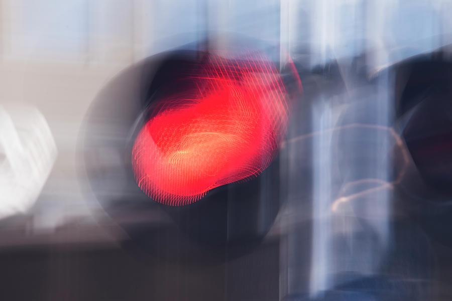 Red Semaphore Signal by Yulia Kazansky