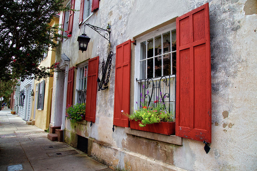 Red Shutters by Lana Trussell