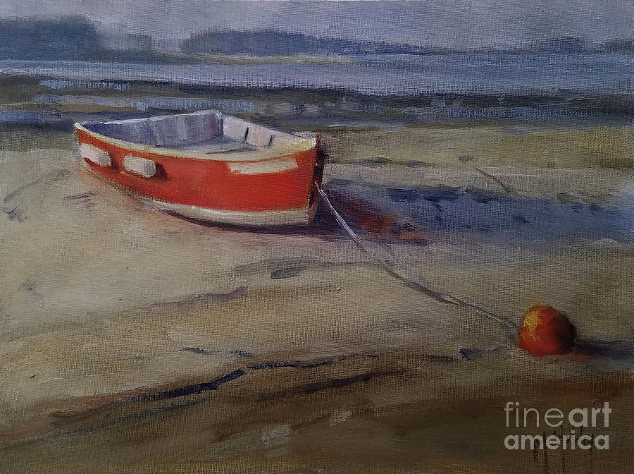 Red Skiff by Mary Hubley