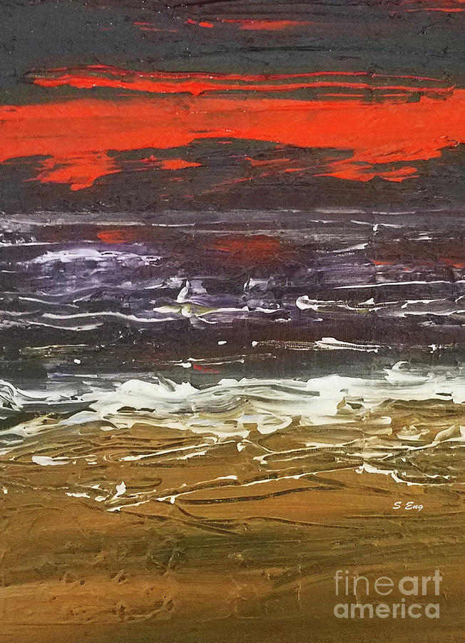 Red Sky At Night 300 Vertical Painting