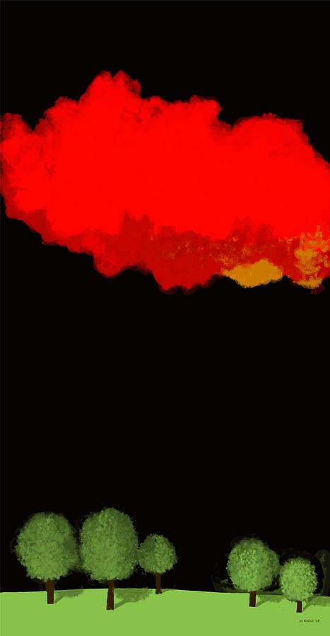 Landscape Digital Art - Red Sky At Night by Juan Carlos Rios