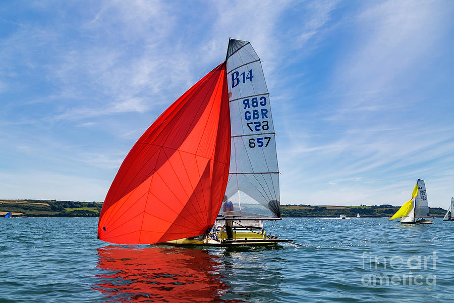 Red Spinnaker by Brian Roscorla