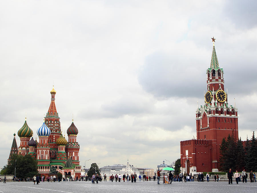 Red Square In Autumn Photograph by Cay-uwe