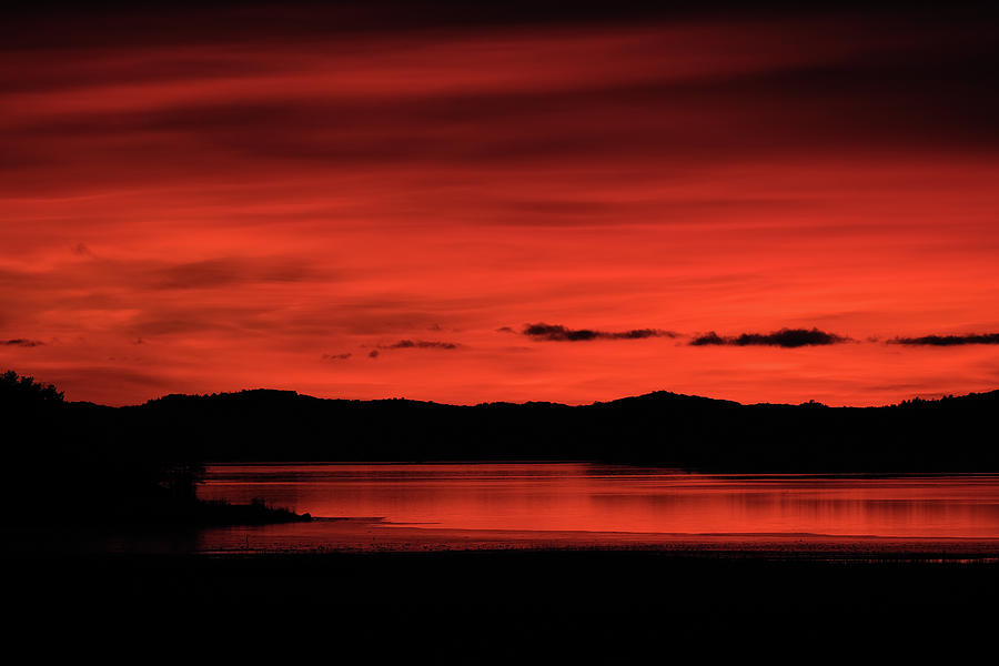 Red sunset by Magnus Haellquist