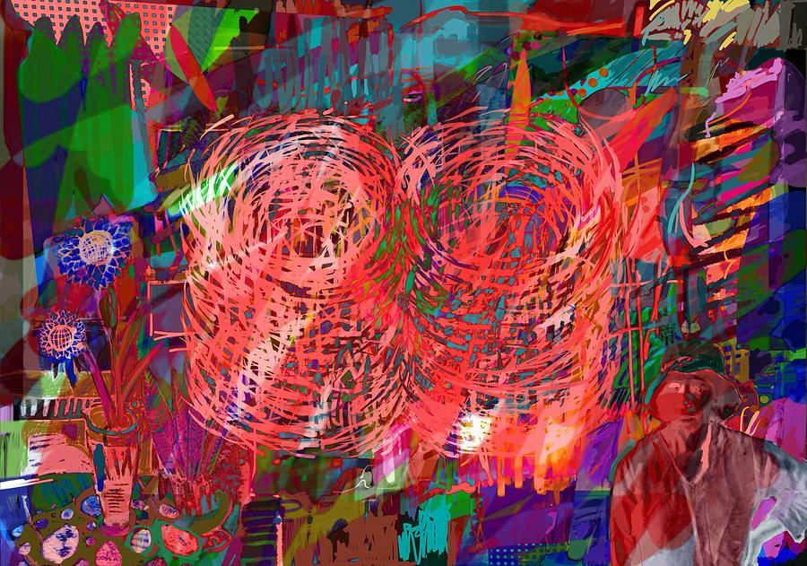 Red Swirls by Joe Roache