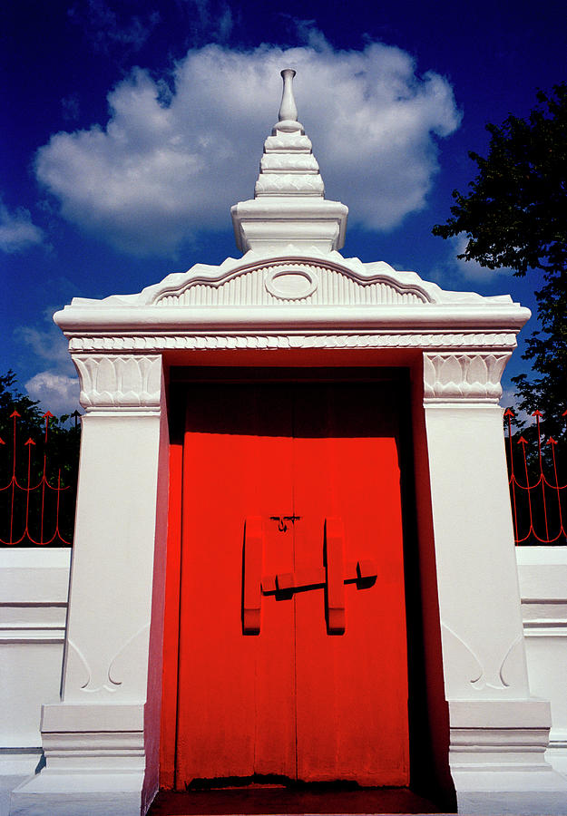 Red Temple Door by Shaun Higson