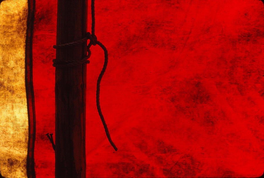 Tent Photograph - Red Tent Stake by Marty Klar