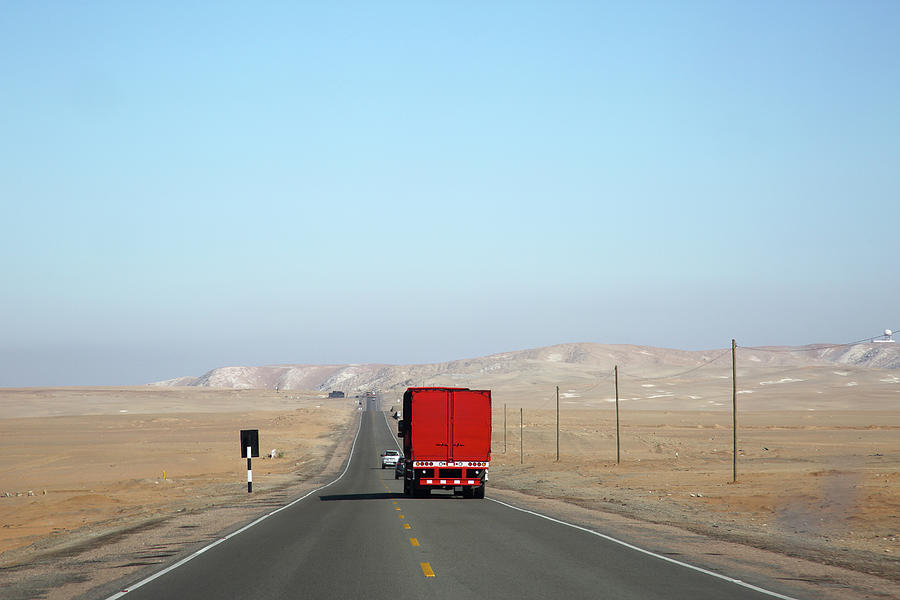 Red Truck Brightens Up Pan American Photograph by Rosemary Calvert