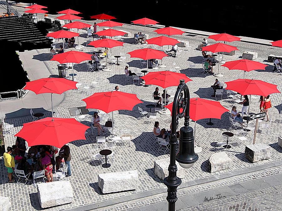 Red Umbrellas Photograph - Red Umbrellas 2 by Madeline Ellis