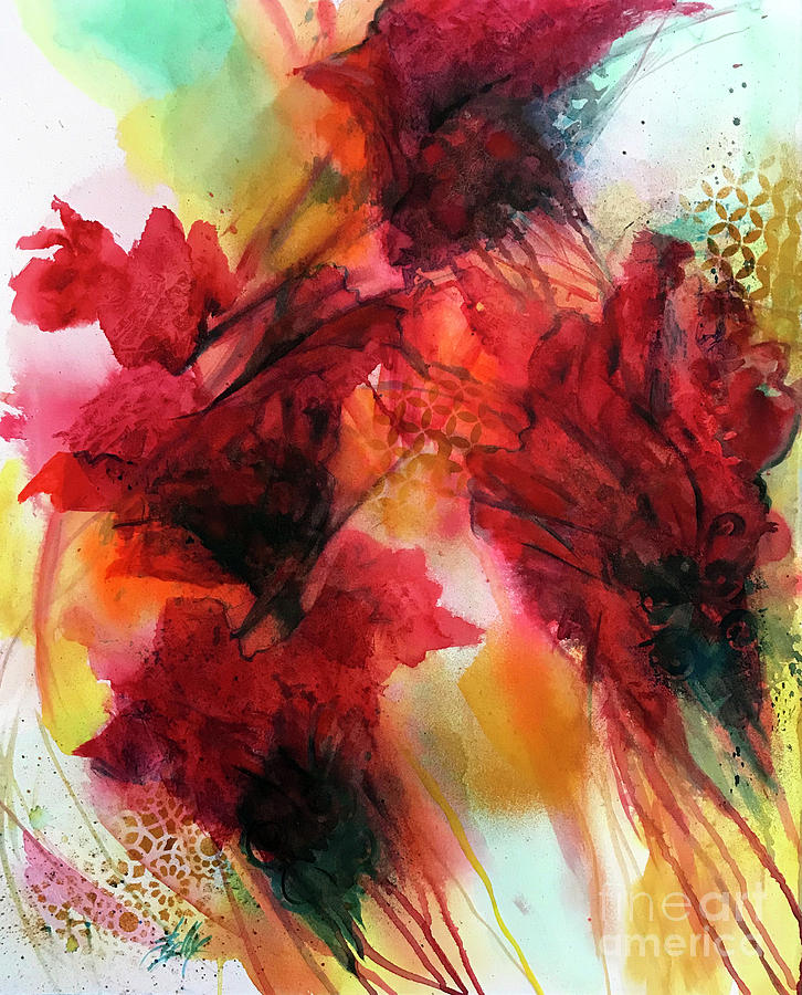 Painting Painting - Red Velvet by Shelly Leitheiser