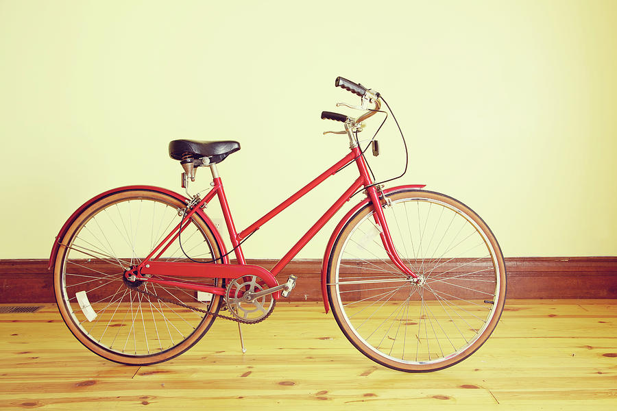 Red Vintage Retro Bicycle Abstract