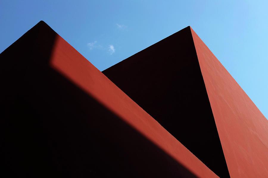 Red Wall Shadows by Prakash Ghai