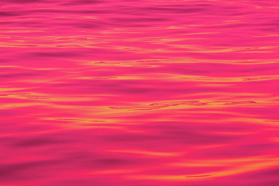 Red Water Abstract 6789 Photograph