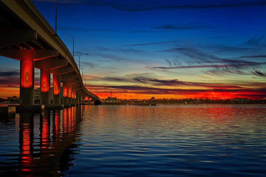 Red White and Blue Sunset by Roy Thoman