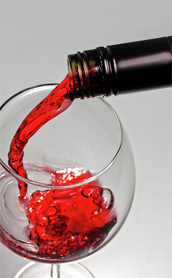 Red Wine Photograph by Christoph Schwabe Photography