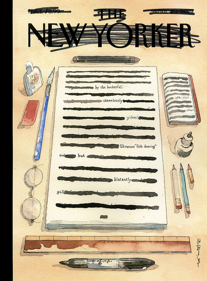 Redacted Cover Drawing by Barry Blitt