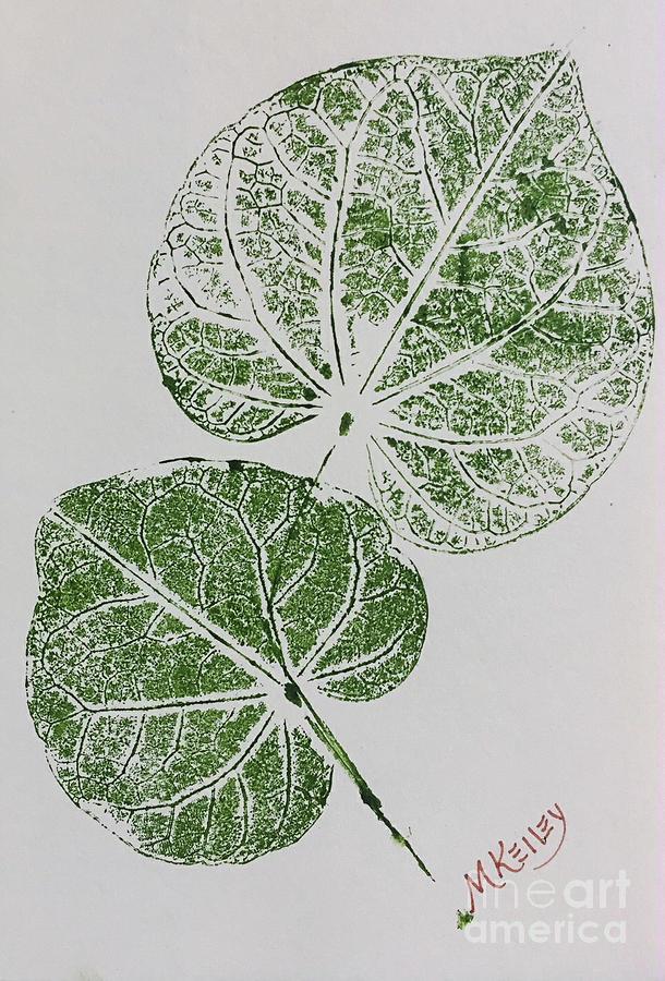 Redbud Tree Leaves Painting By Marsha Mcalexander