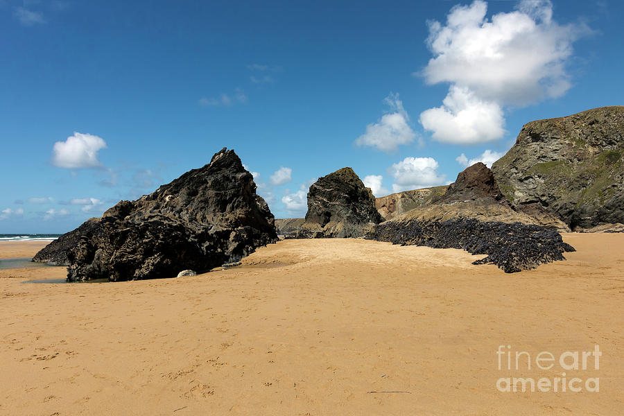 Bedruthan Steps Photograph - Redcove Island Bedruthan Steps by Terri Waters