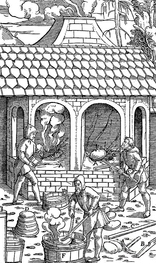 Refining Copper Removing Cakes Drawing by Print Collector