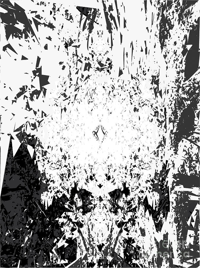 Texture Digital Art - Reflecting Light on Black and White by Poster Book