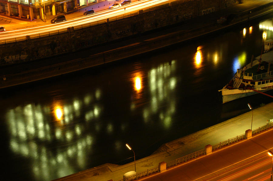 Reflecting The Night In Vienna Photograph