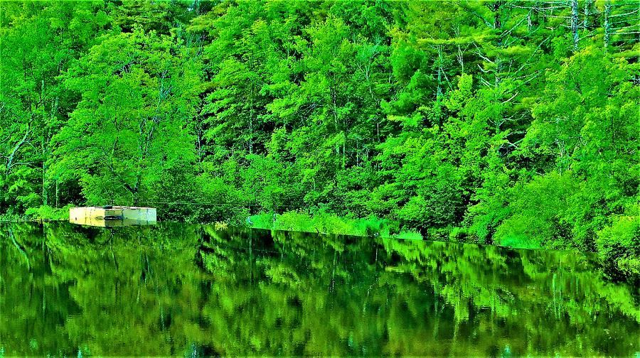 - - Reflection - Dover NH Dam by - Theresa Nye