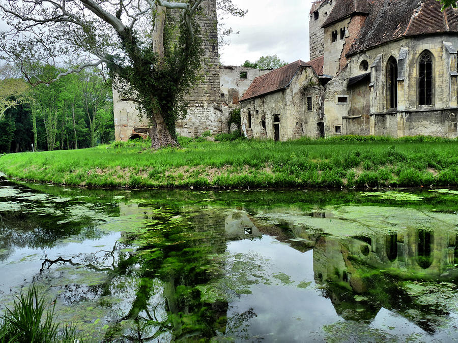 Reflection Of An Ancient Castle Photograph