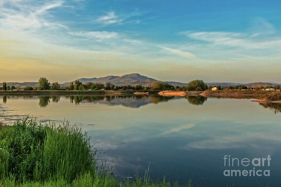 Spring Photograph - Reflection Of Squaw Butte by Robert Bales