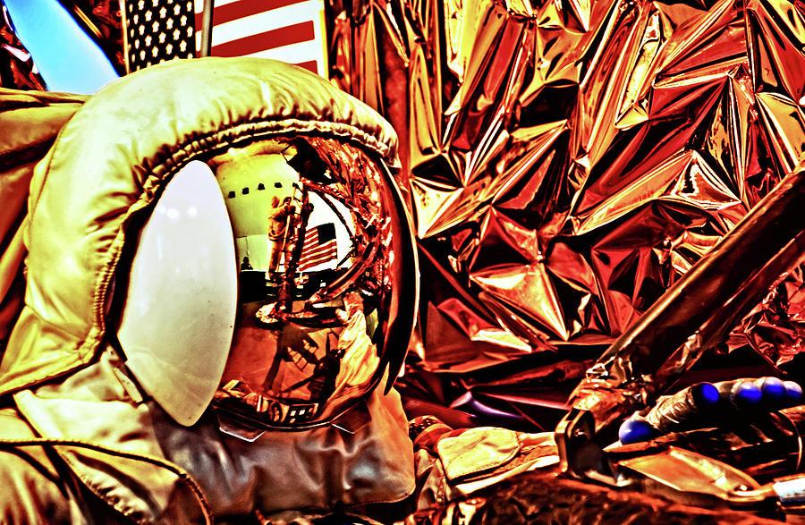 Reflection on a space helmet by Bill Jonscher