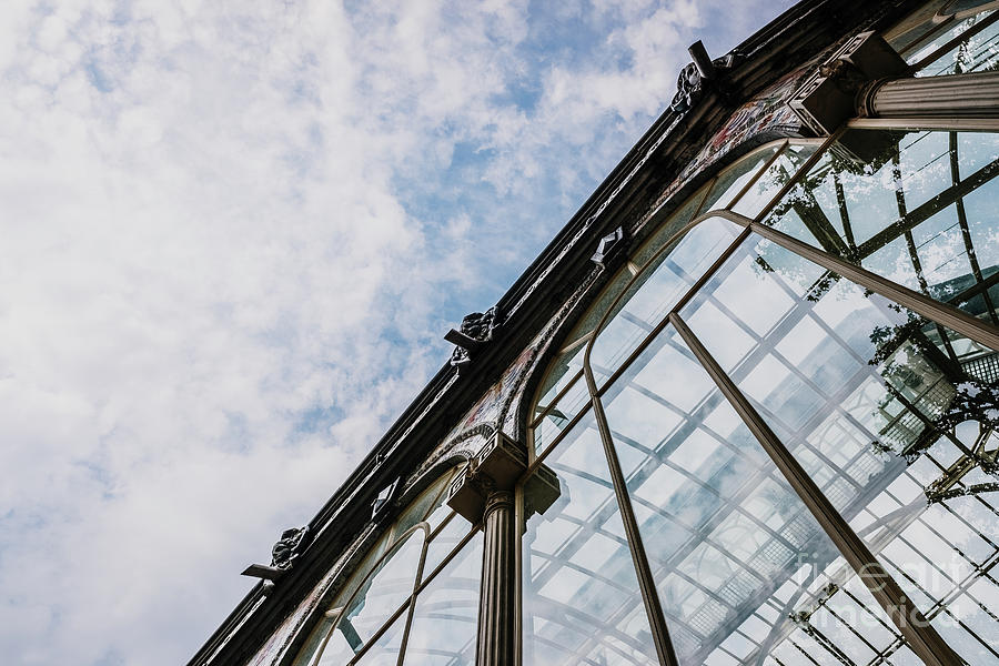 Reflections in the crystals of the richly ornate windows of the Crystal Palace in Madrid. by Joaquin Corbalan