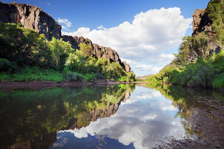 Reflections In Windjana Gorge, Western Photograph by Sara winter