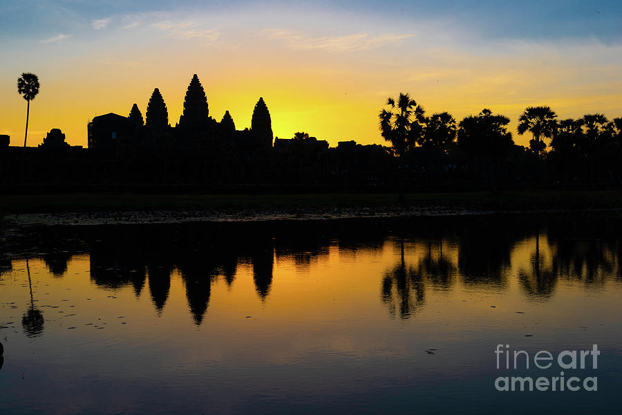 Sunrise Digital Art - Reflections Of Angkor by Pravine Chester