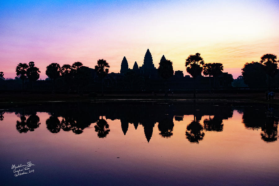 Reflections Photograph - Reflections Of Angkor Wat - Siem Reap, Cambodia by Madeline Ellis