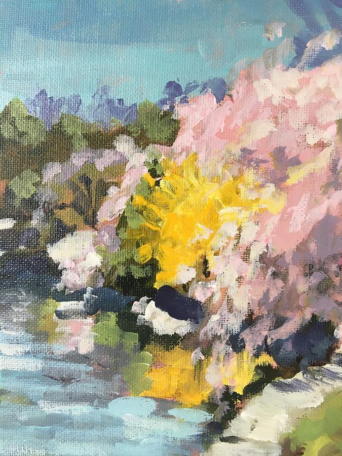 Reflections of Forsythia by Susan Elizabeth Jones