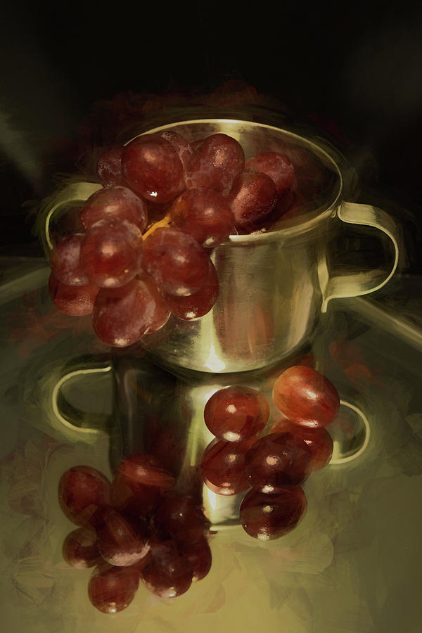 Reflections of Grapes by Pamela Walton