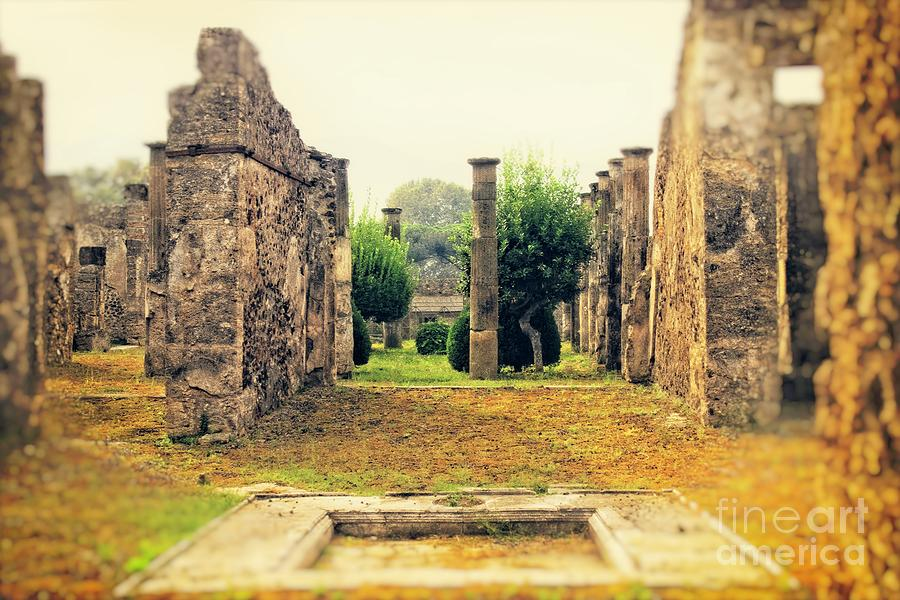 Pompeii Photograph - Reflections Of Long Ago - Pompeii by Mary Machare