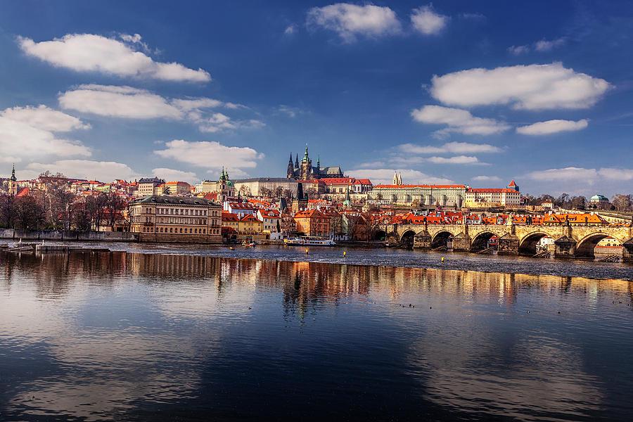 Prague Photograph - Reflections Of Prague by Andrew Soundarajan