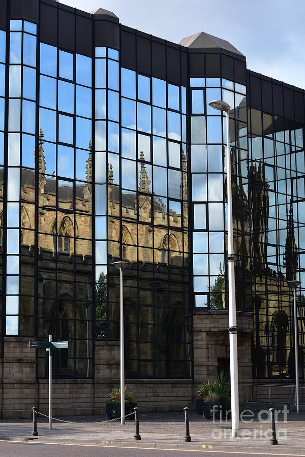 Reflections of St. Andrew's Cathedral by Yvonne Johnstone