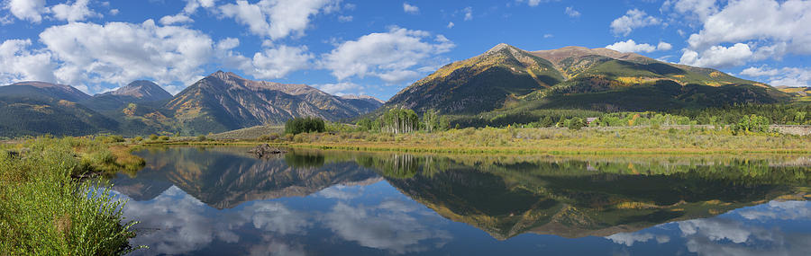 Autumn Photograph - Reflections Of The Sawatch Range In The Autumn by Bridget Calip