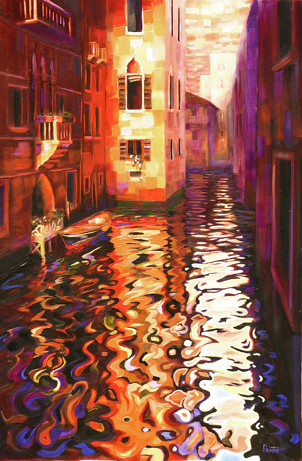 Venice Painting - Reflections of Venice by Rob Buntin