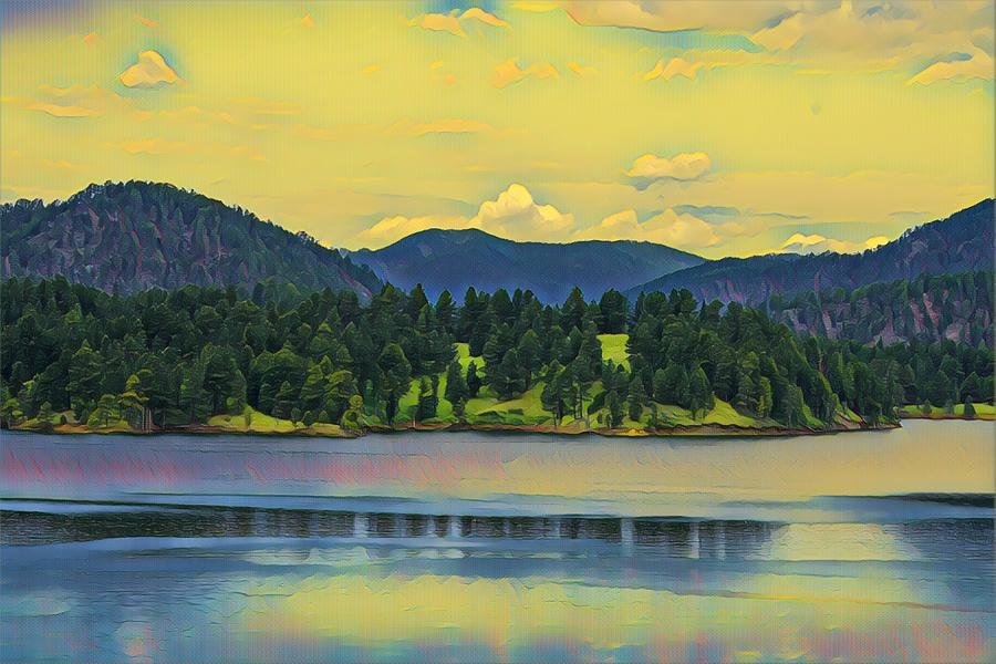 Reflections on Pactola Lake by Susan Rydberg