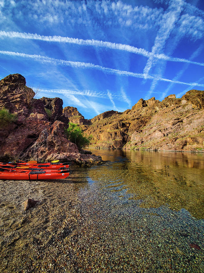 Colorado River Photograph - Reflections On The Colorado River by Sydney Williams