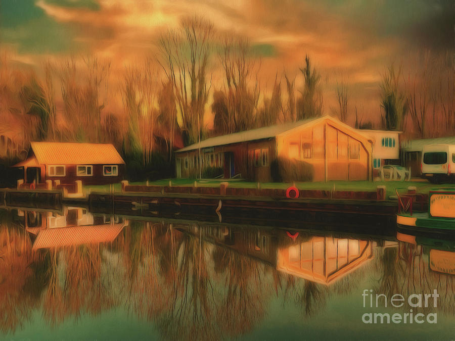 Reflections Photograph - Reflections On The Wey by Leigh Kemp