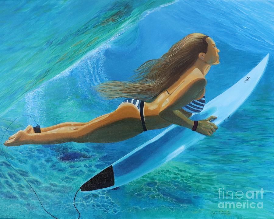 Refresh Surfer Girl by Jenn C Lindquist