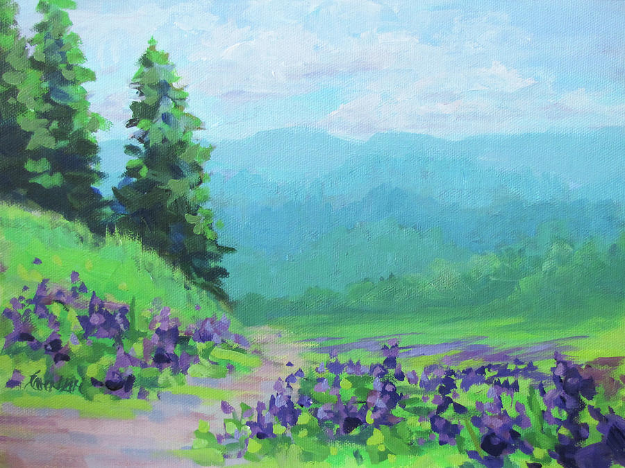 Refreshing A Cool Colorful Landscape Painting Painting By Karen
